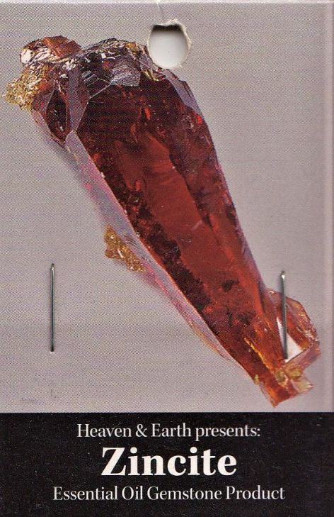 Heaven & Earth's Essential Oil Gemstone Incense Sticks: Zincite